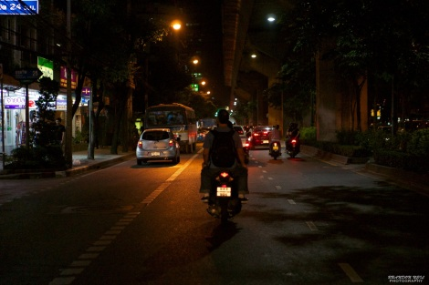 Nighttime Motorcycle Taxi